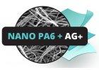 Nanovlákno PA6 s Ag+ stříbrem