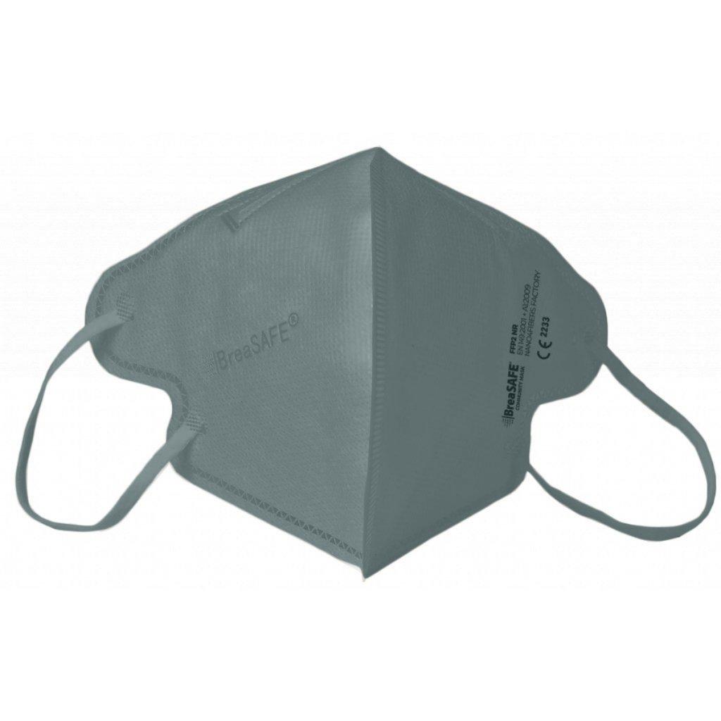 5x Nano respirátor BreaSAFE® COMMUNITY MASK FFP2 Znovupoužitelný - Balení 5ks - Šedá