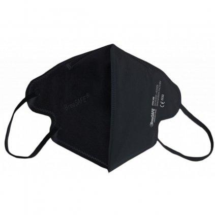 5x Nano respirátor BreaSAFE® COMMUNITY MASK FFP2 Znovupoužitelný - Balení 5ks - Černá