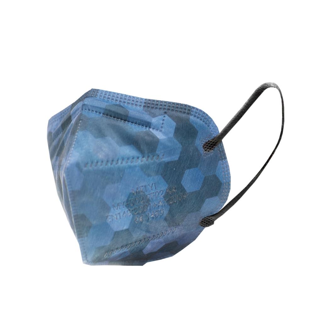Levně MEIYI M002 NANO SAFE Respirátor FFP2 NR - Navy hexagon