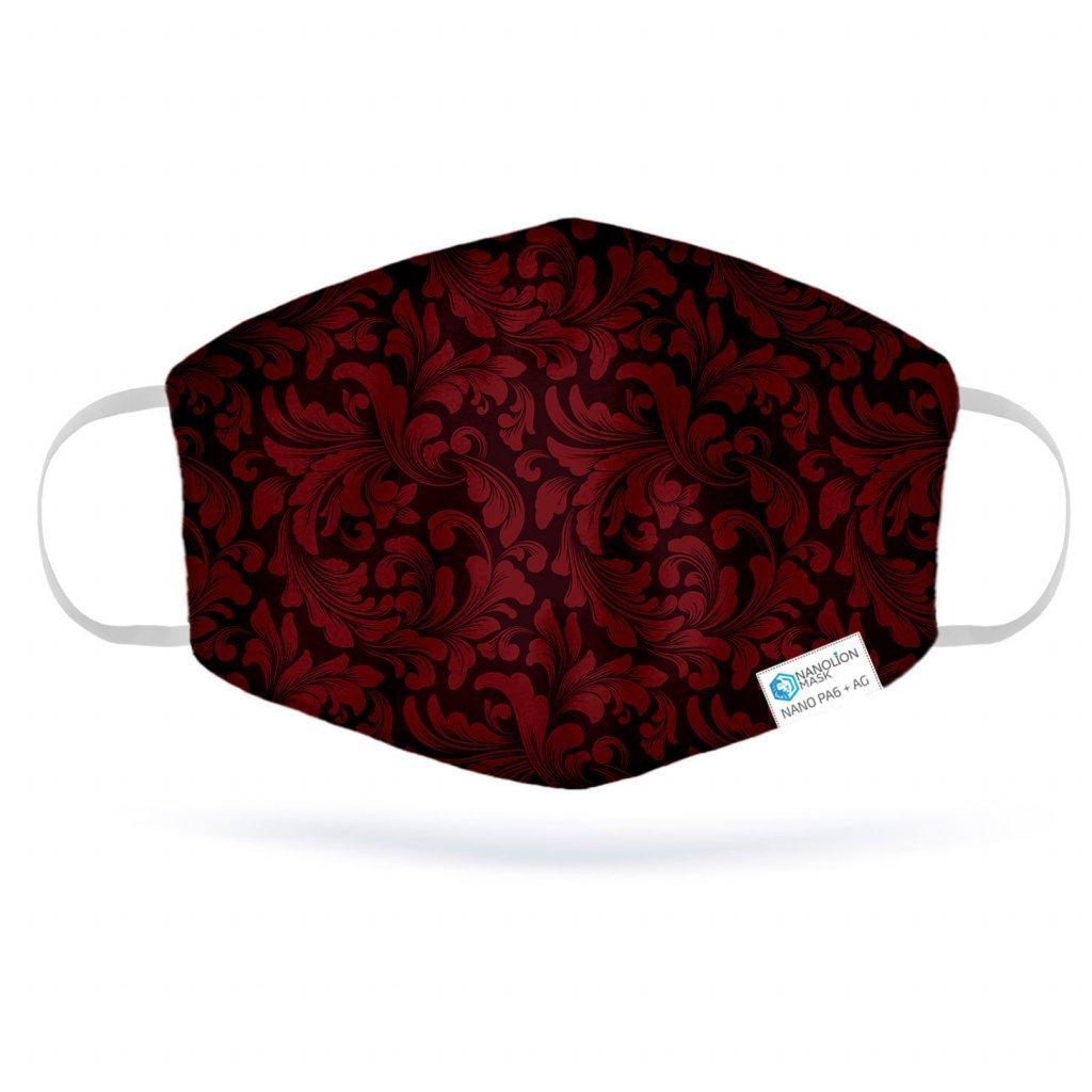 977 3 red damask