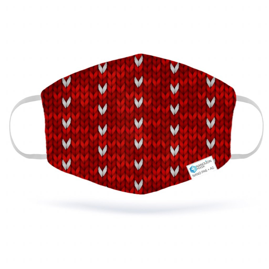 2363 pletena cerveny