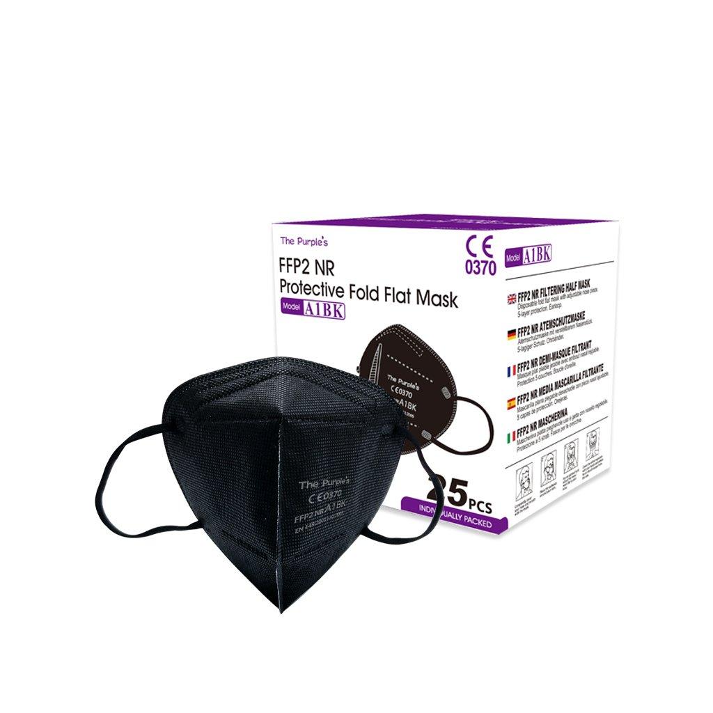 A1BK (The Purple's) Fold Flat Mask FFP2 (10)
