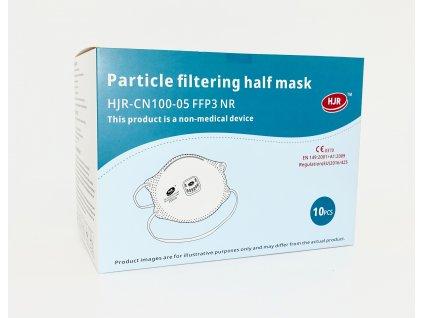Respirátor FFP3 Maska s ventilem - 10 ks