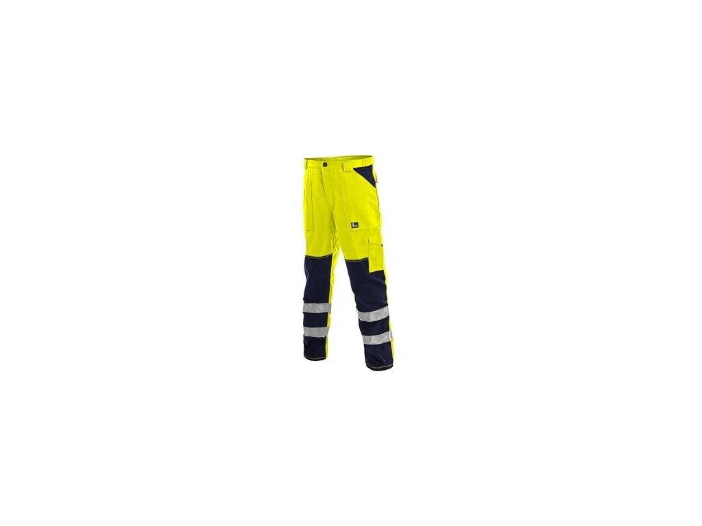 Kalhoty NORWICH, výstražné, pánské, žluto-modré