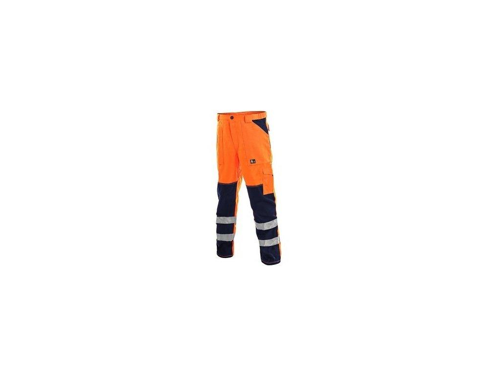 Kalhoty NORWICH, výstražné, pánské, oranžovo-modré