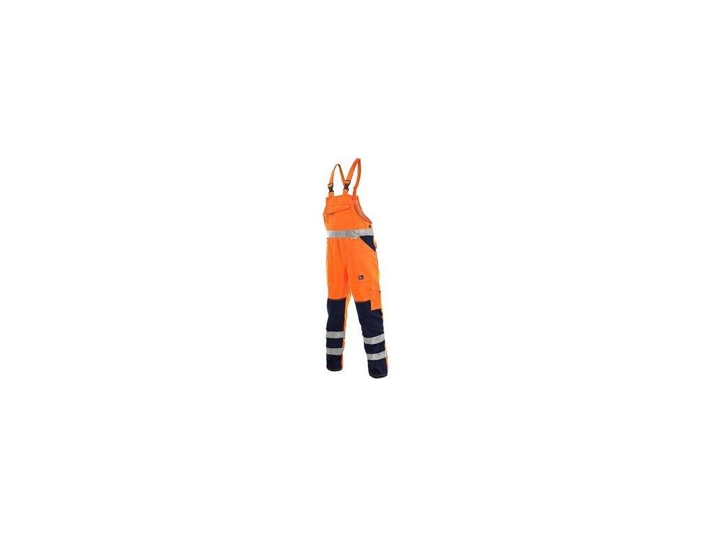 Kalhoty s laclem, zahradníky NORWICH, výstražné, pánské, oranžovo-modré