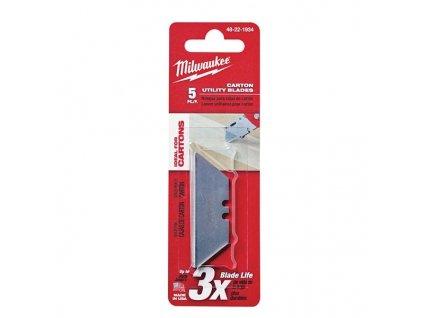 Milwaukee náhradní nože na karton zaoblený 5ks