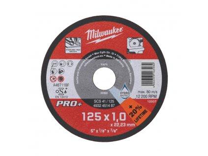 Milwaukee řezný kotouč SCS 41 / 125x1,0 PRO +