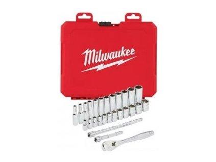 """Milwaukee sada ráčny 1/4"""" a metrických nástrčných klíčů - 28ks"""