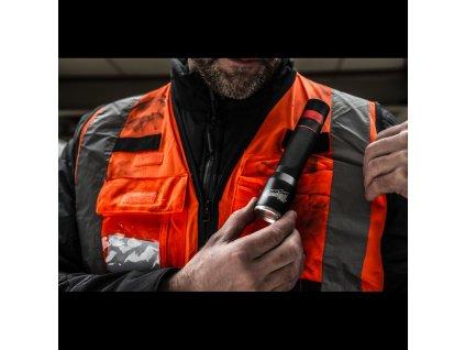 Milwaukee vesta s vysokou viditelností Premium High-Visibility Vest, oranžová, vel. S/M
