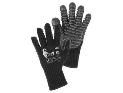 """Antivibrační pracovní rukavice AMET, pletené, blistr, 10"""""""