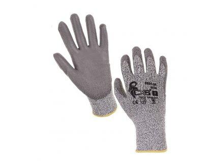 """Protipořezové pracovní rukavice CITA, šedé, 8"""""""