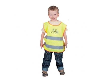 Dětská reflexní vesta ALEX žlutá