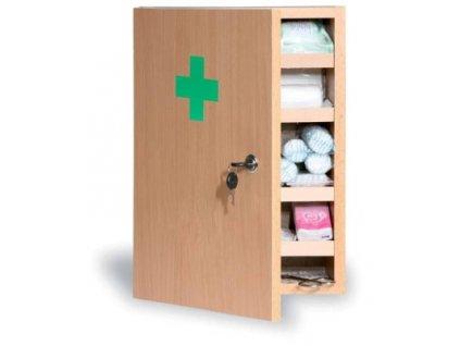 Dřevěná nástěnná lékárnička