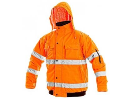 Pánská reflexní bunda LEEDS, zimní oranžová