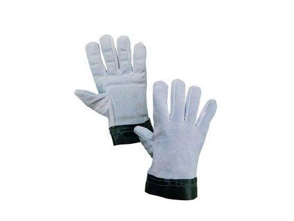 Antivibrační rukavice TEMA, celokožené, vel.10