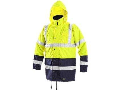 Pánská reflexní bunda OXFORD, žluto-modrá