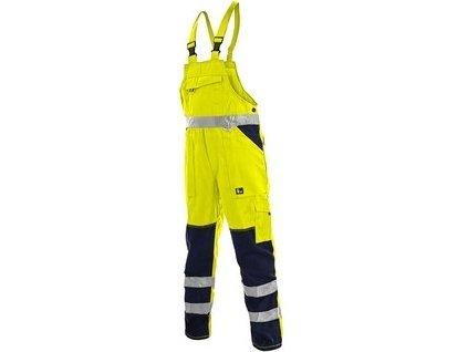 Kalhoty s laclem, zahradníky NORWICH, výstražné, pánské, žluto-modré