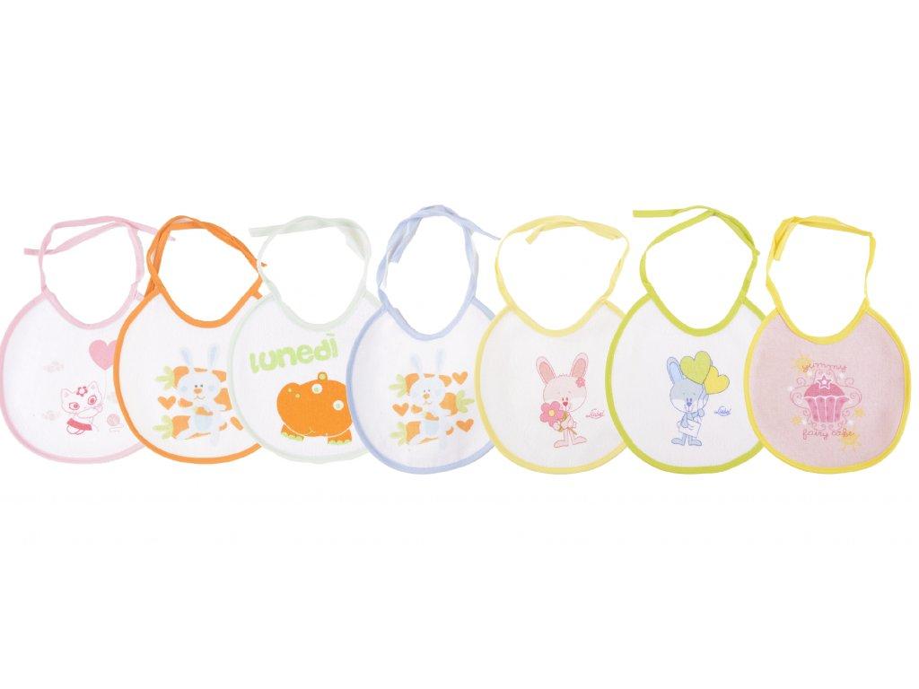 Bavlněné kojenecké bryndáky, 7 ks v balení, Wren