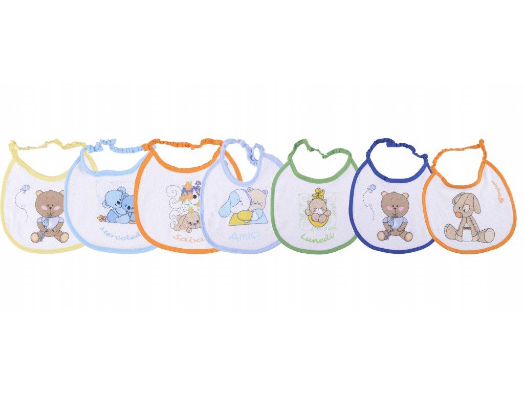 Bavlněné kojenecké bryndáky, brody