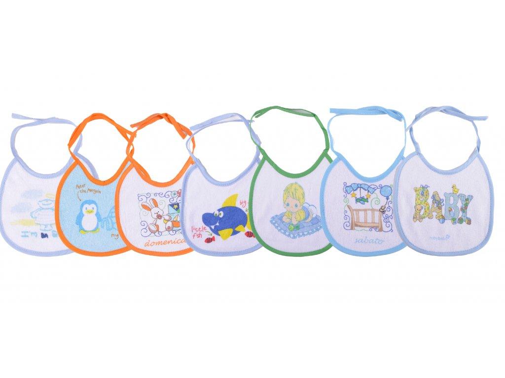Bavlněné kojenecké bryndáky, 7 Ks, zavazovací, Greg