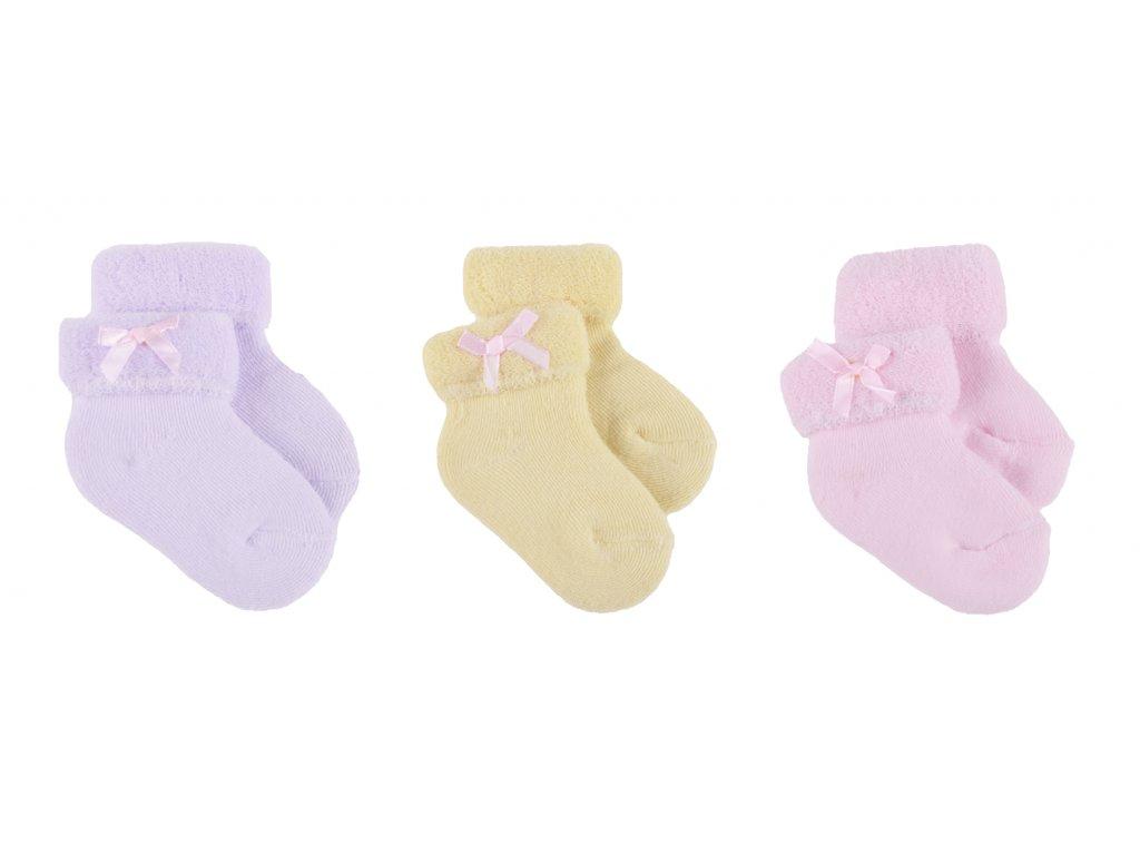 Kojenecké froté ponožky, 3 ks v balení, Stacey1