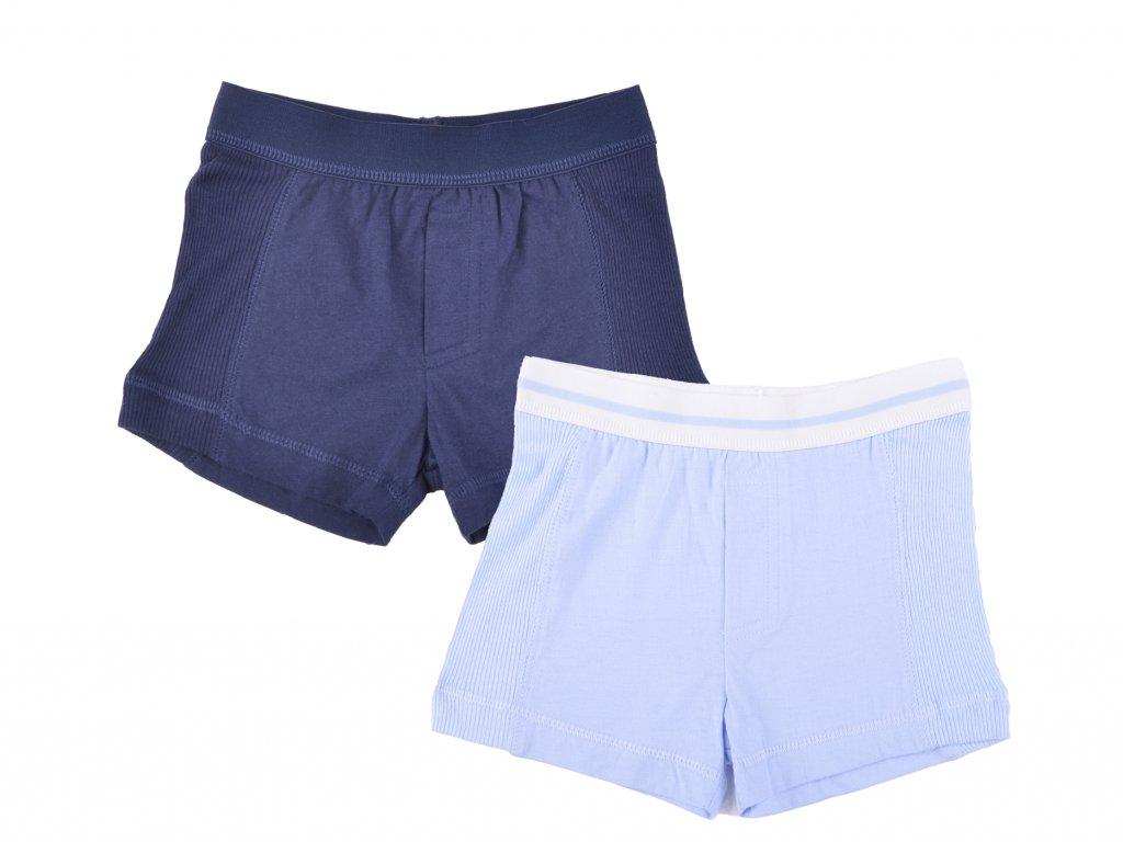 Bvalněné boxerky 2 ks