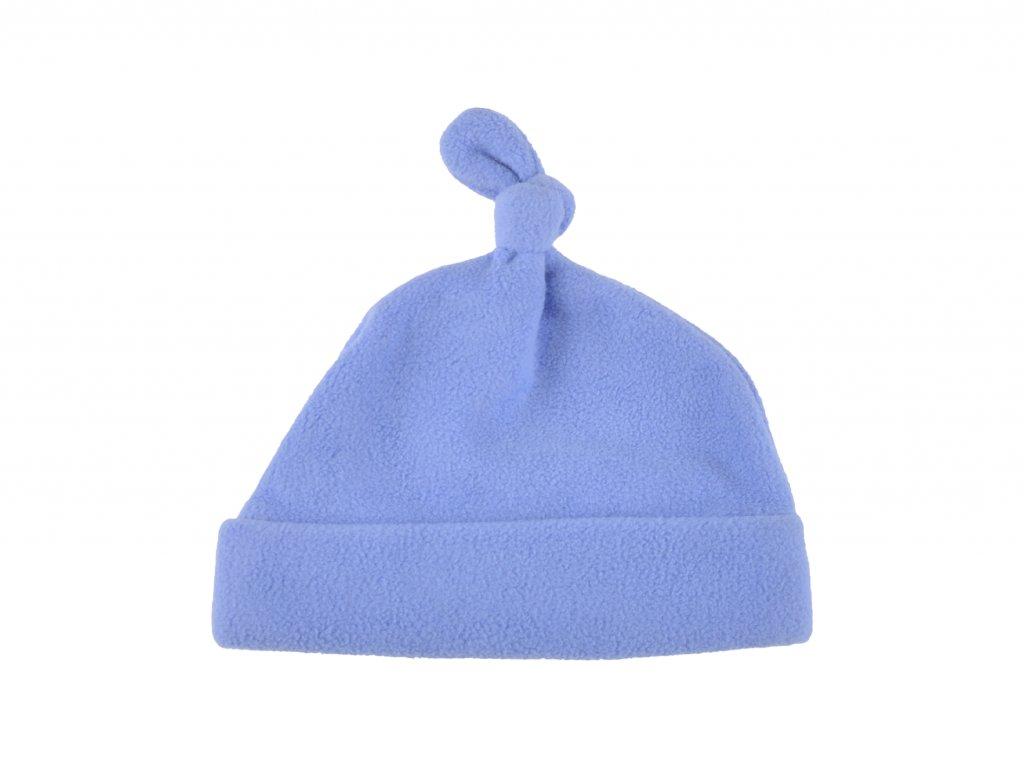 Fleecová čepička, modrá