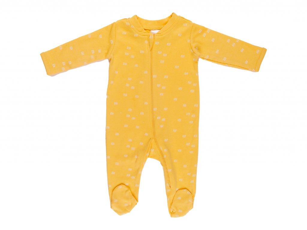 bavlněný kojenecký overal, na zip, sunshine