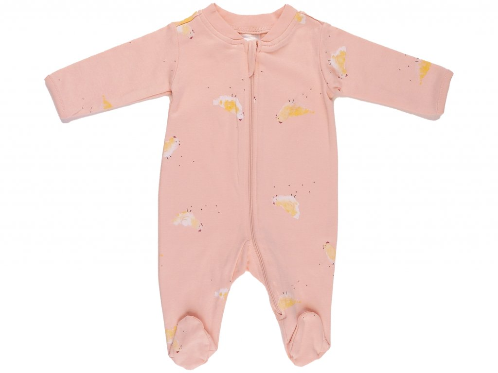 Bavlněný kojenecký overal, na zip, Spring