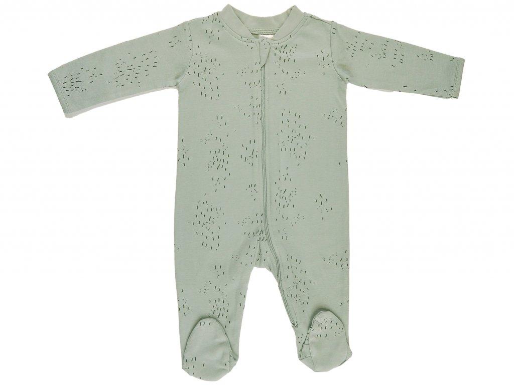 Bavlněný kojenecký overal, na zip, Rainforest
