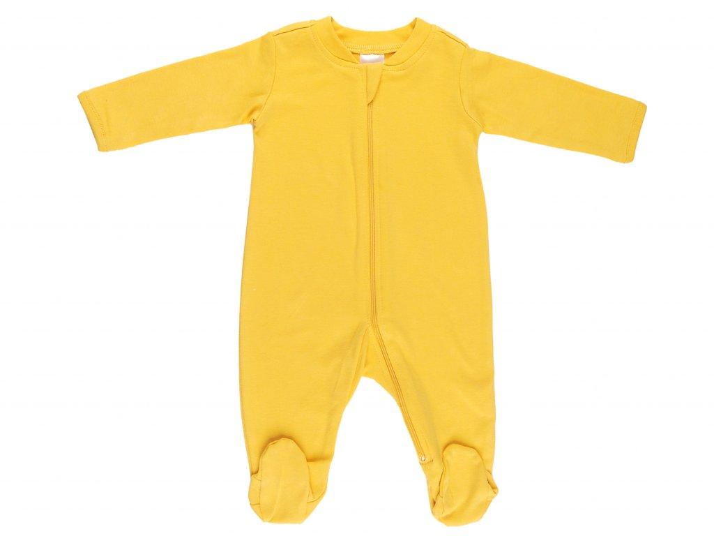 Bavlněný kojenecký overal, na zip
