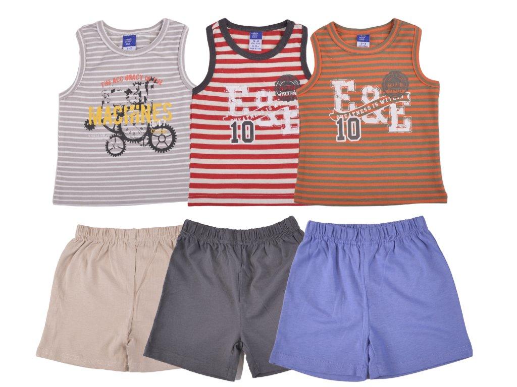 Bavlněný chlapecký letní set