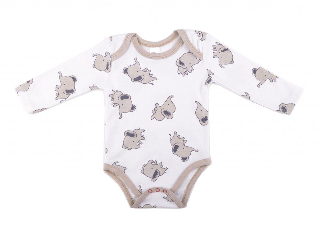 Bavlněné kojenecké body, sloník