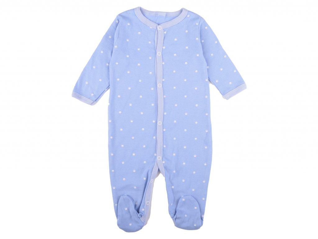 Bavlněný kojenecký overal, modrá, Jordy