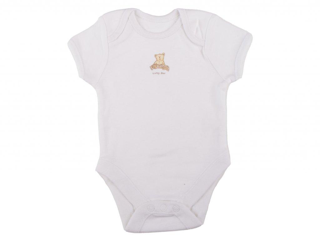 Bílé kojenecké body, bavlněné, sleepy