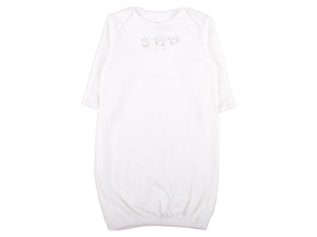 Kojenecká noční košile, bílá, ovečky