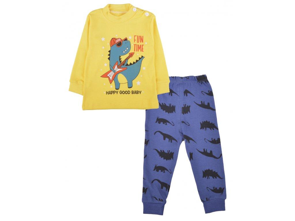 Bavlněné dětské pyžamo, 2 ks, dinosauřík, celek