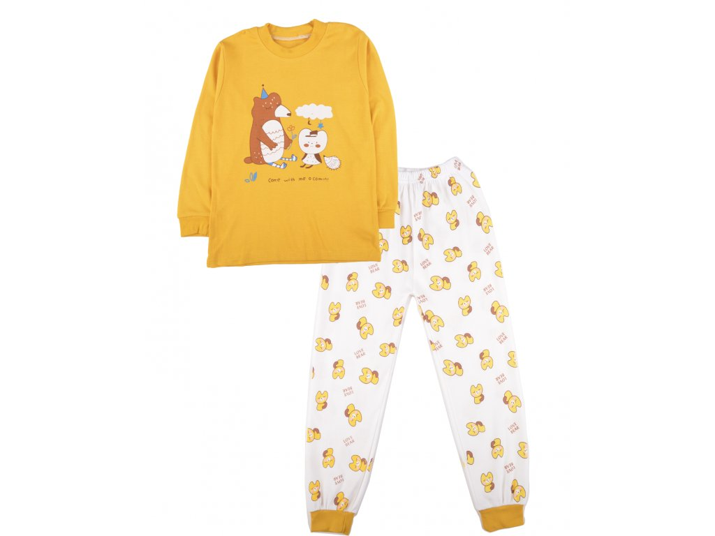 Bavlněné dětské pyžamo, médvídek, set