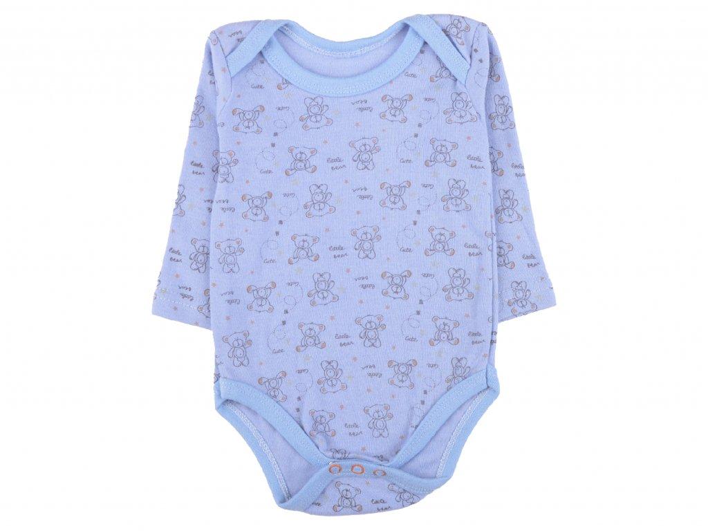 Bavlněné kojenecké body, medvídci, modrá