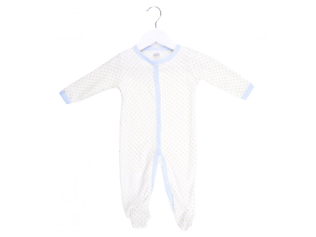 Bavlněný kojenecký overal, puntíkovaný
