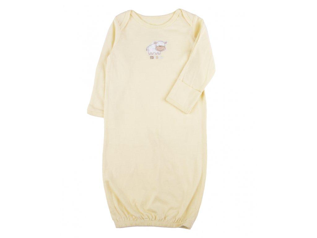 Bavlněné kojenecké košile, žlutá s ovečkem