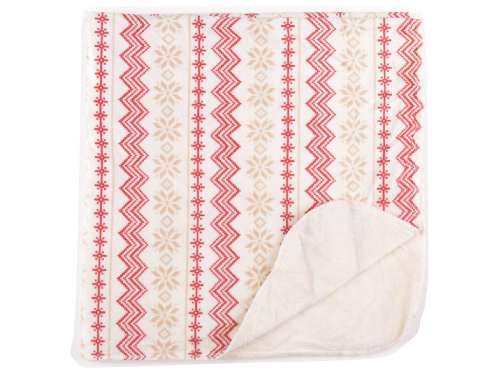 Plyšová deka, 30x30cm, zima