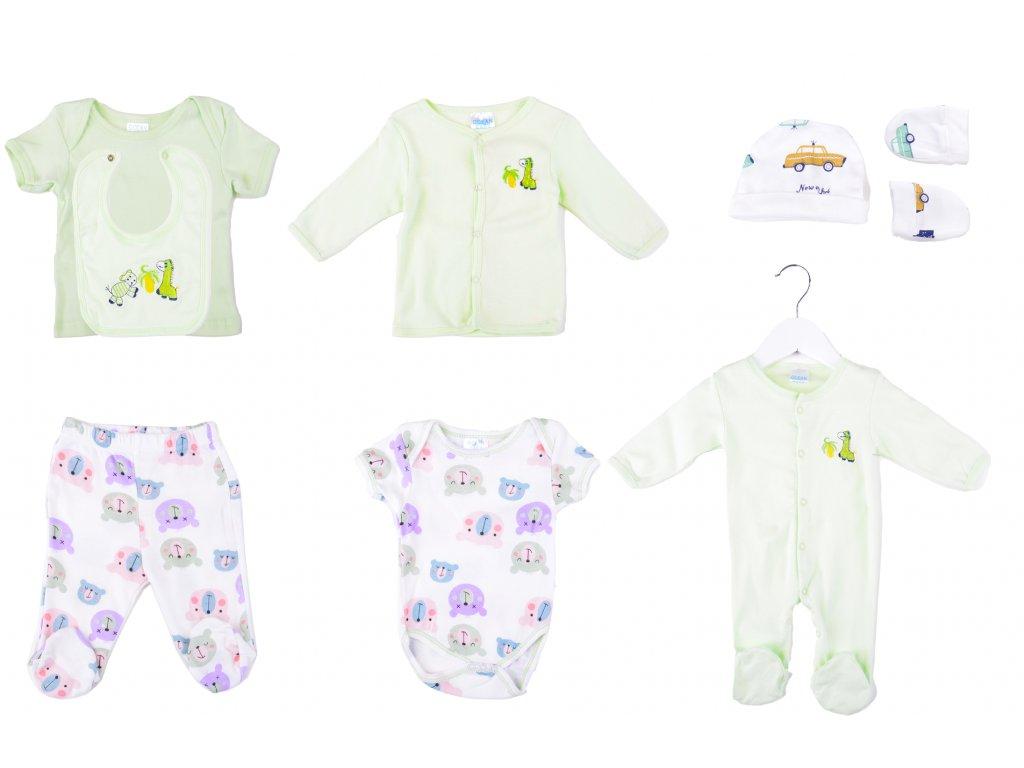 Bavlněný kojenecký set, 8 ks