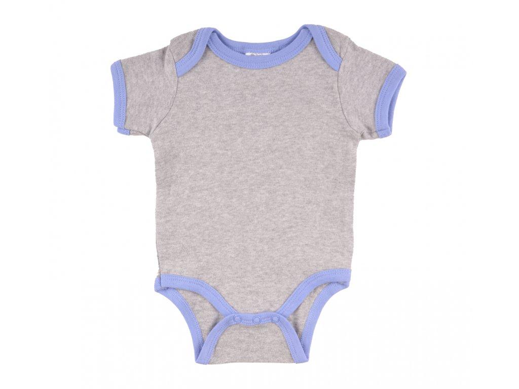 Bavlněný kojenecké body, krátké rukávy, Nicholas