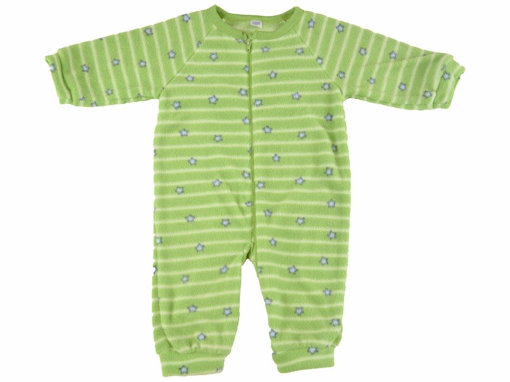 Fleecový overal, na zip, zelený, Star