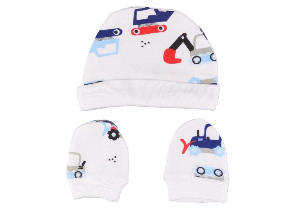 Bavlněný kojenecký set, 8Ks, Autíčka