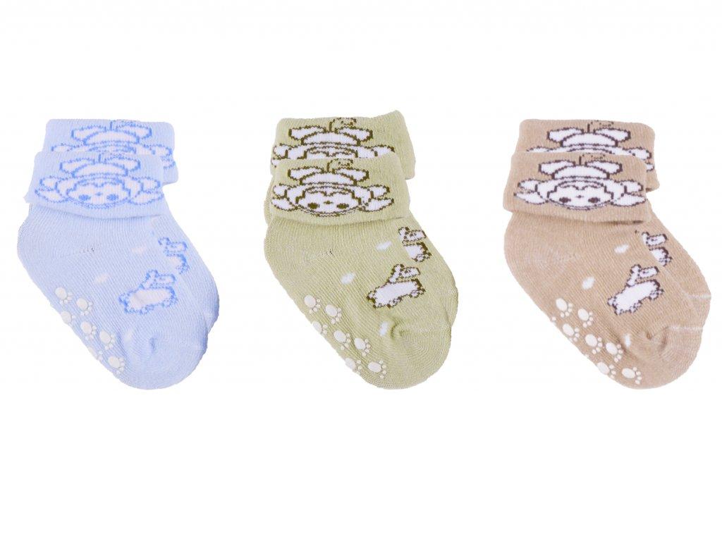 Kojenecké protiskluzové ponožky, set 1