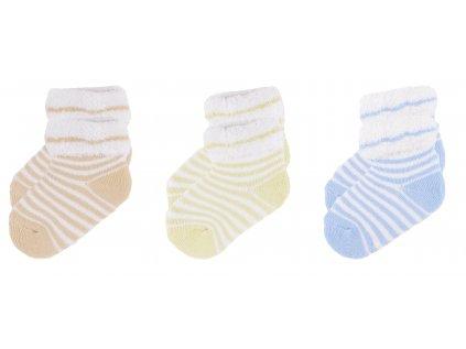 Kojenecké froté ponožky, 3 ks v balení, Andrew
